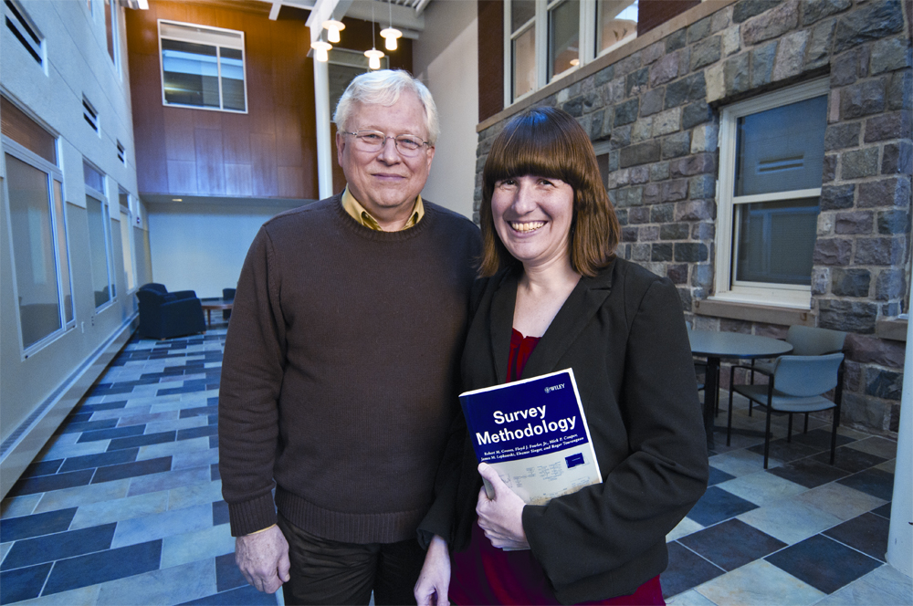Professor Jim Lepkowski (left) and his fellow authors donated royalties from their survey methodology textbook to benefit student education and research, including the work of Charles Cannell Fund Award recipient Ashley Bowers (right).