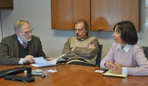 George Alter (left) at a recent meeting at ICPSR.