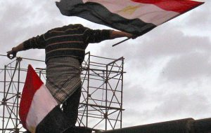 Egyptian Revolution (Photo by Mariam Soliman, available on Wikimedia Commons under a Creative Commons license.)