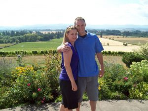 West and wife Laura on a trip to Portland wine country in 2010. Photo courtesy of Brady West.
