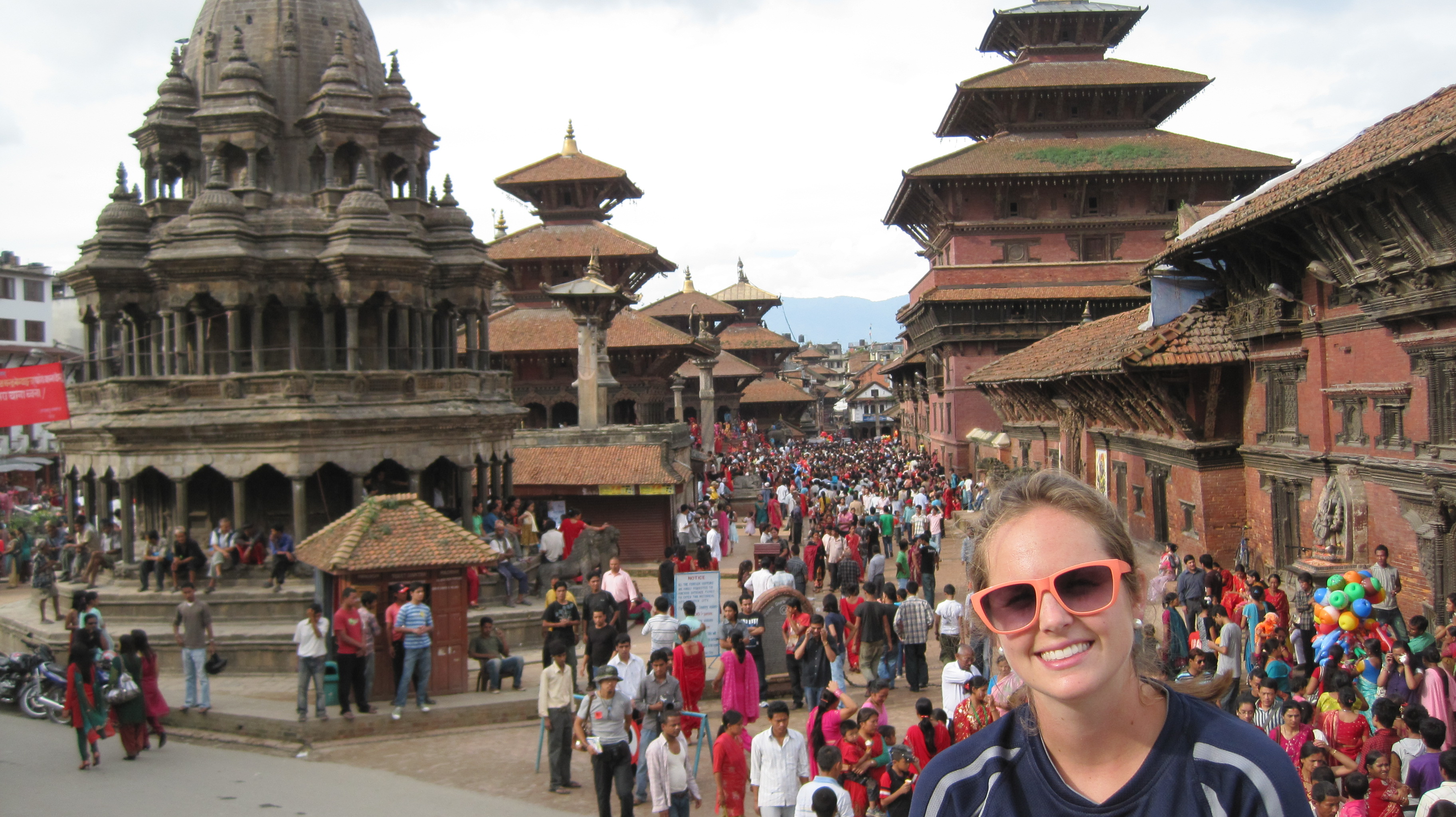 Nell Compernolle during a recent trip to Nepal. (Photo courtesy of Nell Compernolle)