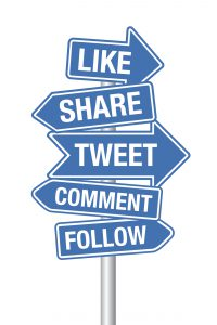 Social media terms signpost