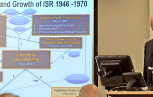 James House talks about ISR during the event.
