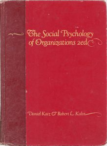 The Social Psychology of Organizations book cover