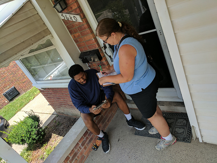 DMACS canvasser with Detroit resident