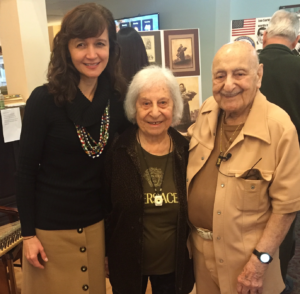 Kelly Askew (left), with Mary and Leo Sarkisian in Sept. 2015.