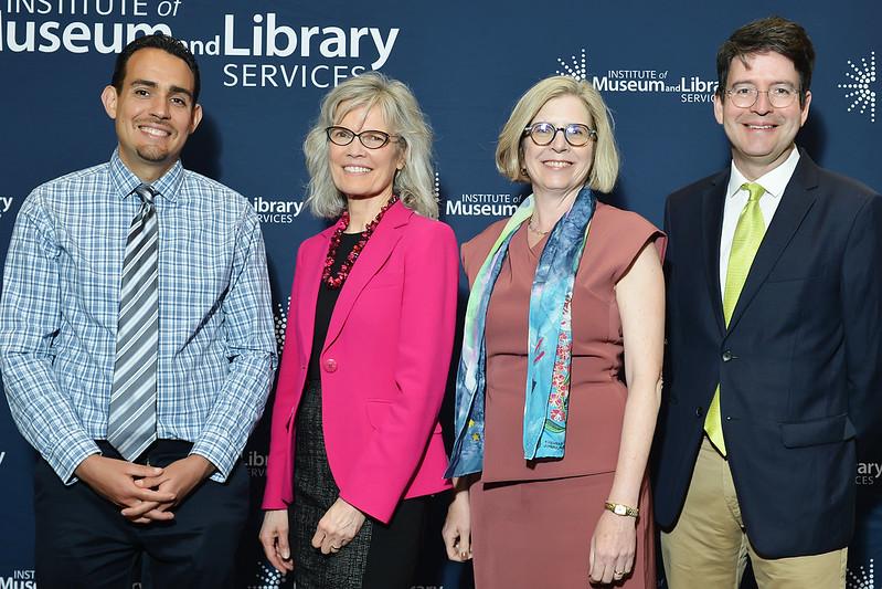 From left to right: John Leverso, Kathryn Matthew, Margaret Levenstein, Michael Jones-Correa