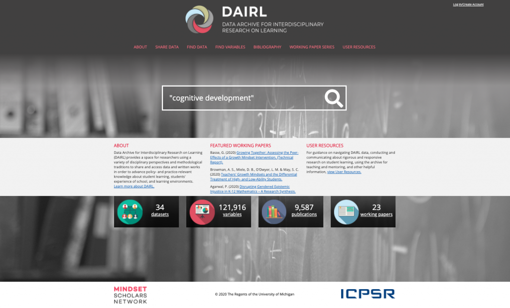 DAIRL home page of website