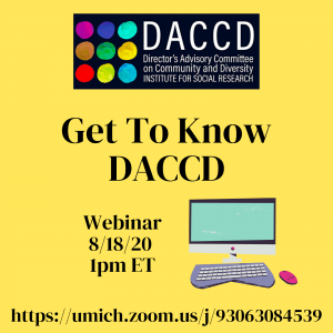 Get to Know DACCD past webinar