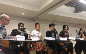 image of the panel of scholars attending the University of Michigan RacismLab symposium